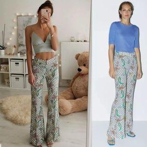 NWT Zara Flared Paisley Print Pants 3025/588